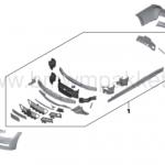 Inhoud M-Pakket voor een BMW 3-serie F30/F31.