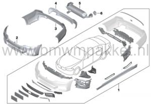 Inhoud M-Pakket voor een BMW 5-serie G30/G31.